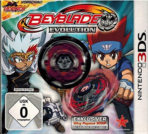 Beyblade Evolution für Nintendo 3DS mit exklusivem Wing Pegasus 90 WF Beyblade (Spiel + Beyblade)