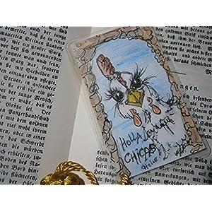 Lesezeichen Hahn Hallo Hühner handgemalt Original laminiert, Geburtstagsgeschenk, Weihnachtsgeschenk