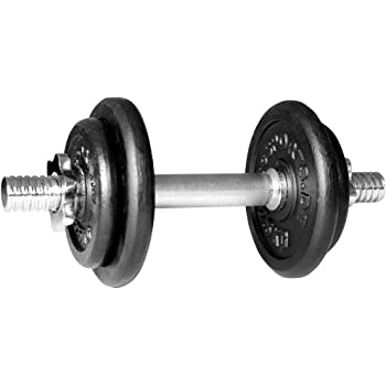 ScSPORTS - Juego de pesas (10 kg, 1 barra corta, 2 pesas de