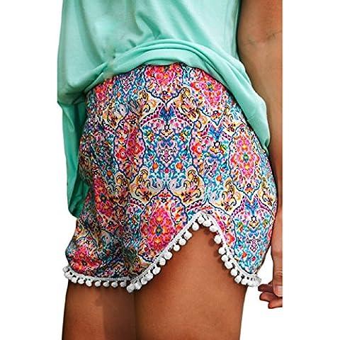 Malloom® Neue Frauen Damen Sexy Hot Pants Sommer Hohe Taille Kurzen Strand Shorts (S, bunt)