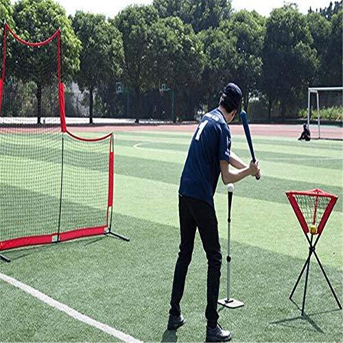 ZFH Netzübungen für Baseball und Softball, Schlagen, Werfen, Schlagen und Fangen, L-förmiges Design, Trainingshilfen für die Rücklaufsperre, Team oder Solo