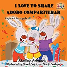 I Love To Share Adoro Compartilhar Portuguese Kids Books For Children