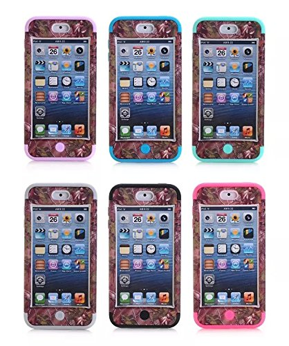 iPhone 6 Case, Lantier Luxury 3 in 1 Cherry Blossoms Pattern Hybrid Hard Soft Combo Bumper Back Case Cover Protector Fit For iPhone 6 4.7 inch Cover Screen Protector+Stylus Pen/Green Cherry Blossoms Hot Pink