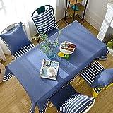 MAlex Tischdecken Rechteck Mediterranean Style Kunstleder Leinen Tabelle Tuch Haushalt rechteckiger Tisch decken geeigne