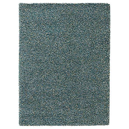 MBI Teppich Hochflor blau-grün Größe aufgebaut Länge 230 cm Breite 170 cm Dicke 30 mm