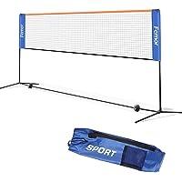 femor Badminton Netz Tennisnetz 4/5 m Tragbares Volleyball mit Verstellbaren Höhen faltbares Federballnetz Outdoor…