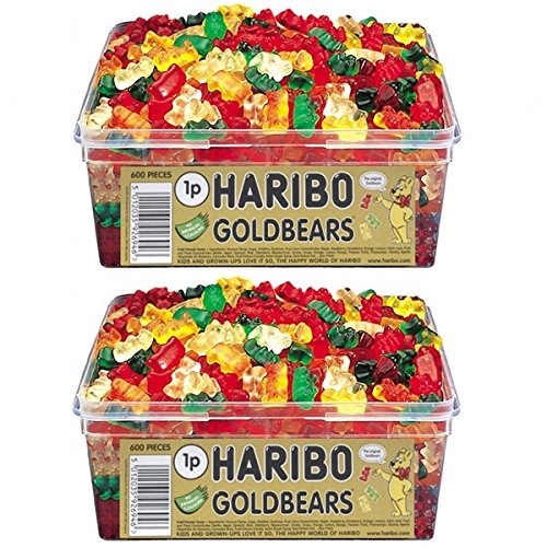 2-x-full-tubs-haribo-sweets-party-favours-treats-candy-box-wholesale-gold-bears