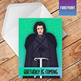 personalisierbar Game of Thrones Birthday Is Coming Jon Snow Happy Birthday Grußkarte – Texten für jede Gelegenheit oder Event – Geburtstag/Weihnachten/Hochzeit/Jahrestag/Verlobung/Vatertag/Muttertag