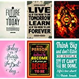 Paper Plane Design Combo Pack Of 6 Motivational Wall Posters And Inspirational Quotes For Office And Home Decor (Size 12 Inches X 18 Inches) Design 70
