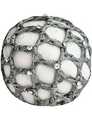 Haarnetze mit Glitzersteinchen, grau