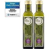 BIO Leinsamenöl Leinöl BIOMOND/2 Flaschen je 250 ml/Vorteilspack/kalt gepresst/TESTSIEGER