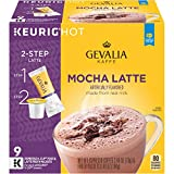 Mocha Latte Espresso , 9 Count : GEVALIA Mocha Latte, K-CUP Pods and Froth Packets, 9 Count