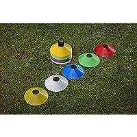 Mitre 50x cónico Multi Coloured espacio marcadores agilidad conos de entrenamiento Indoor