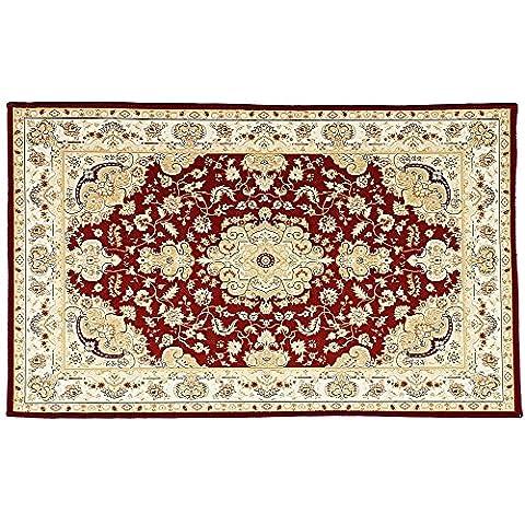 Anti-skid Bathroom Floor Carpet - Area Rugs - Bathroom Rugs - Kitchen Rugs - Home Decoration (Red)