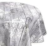 Wachstuchtischdecke glatt abwischbar OVAL RUND ECKIG, Wachstuch Garten Tischdecke, Größe und Motiv wählbar (Rund 100 cm, Vintage Holz grau)