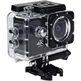 4K Sport Action Camera, 2 Inch LCD Screen 12 MP Full HD 1080P 60fps Waterproof Sports Camera with 170 Ultra Wide-Angle Lens