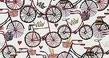 Bike Fahrrad Stoff–0,5m–TT89–100% Baumwolle
