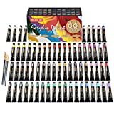 Pintura Acrilica Set,Shuttle Art 66 Colores 22ml/Tubo con 3 Pinceles de Dalidad...