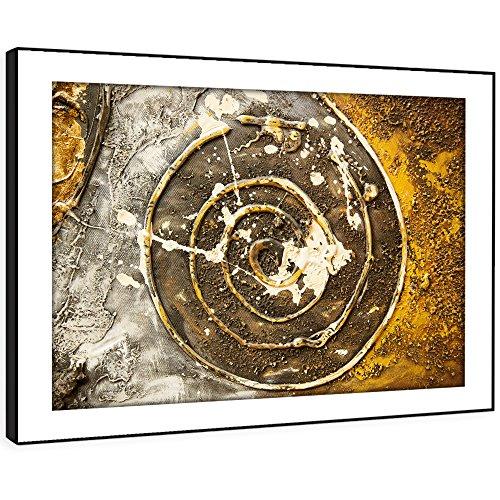 BFAB981c - Framed Print Wandkunst - vintage photo moderne abstrakte Landschaft Wohnzimmer Schlafzimmer Stück Wohnkultur einfach hängen Führung (58x41cm) (Vintage öl-zeichen)