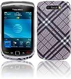 Twins Taste für BlackBerry Torch 9800, schwarz Geschmackvolle Hartplastik-Schutzschale Blackberry Torch 9800, Torch 9810 Tasche, Handytasche, Etui, Case, Holster, Schutzhülle