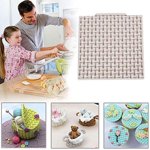 Fenghong Kuchenform, Korb Weben Silikonform Kuchen Schimmel Grenze Zucker Handwerk Fondant Sleeve -