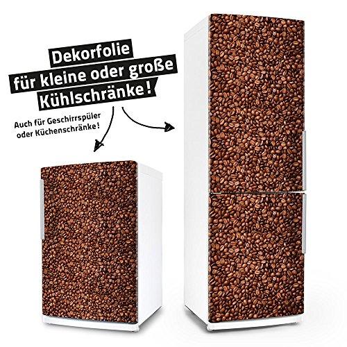 Kühlschrank- & Geschirrspüler-Folie --- Kaffeebohnen --- Dekorfolie Aufkleber Klebefolie Front Kaffee (Kühlschrank Vinyl Cover)