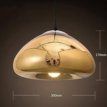 GYD Modern Minimalist Style Esstisch Lampe Quallen Überzug Glas Fisch Line  Nordic Mall Einzelne Kopf Kleine Kronleuchter ( Farbe : Gold ): Amazon.de:  ...
