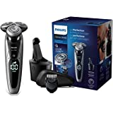 Philips S9711/32 Serie 9000 Wet & Dry Rasoio Elettrico con Lame di Precisione, Regolabarba e Sistema di Pulizia SmartClean, N