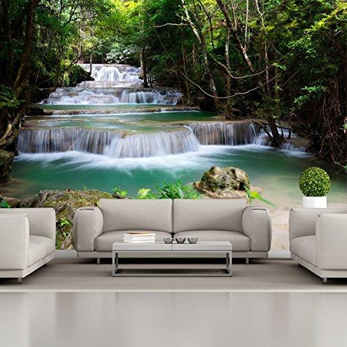 Tropical Forest Waterfall & Wallpaper Foto River Paesaggio da parati Natura disponibile in 8 taglie Extra-Small Digitale