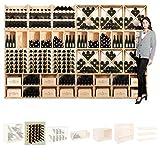 Scaffale per vino Modulo QUADRI, pino naturale, per 30 bottiglie, impilabile / ampliabile - a 60 x l 60 x p 30 cm<br />
