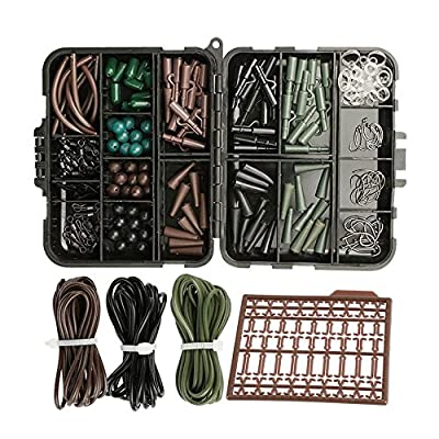 Goture Assorted Carp Fishing Tackles Set With Box Hooks,Rubber Tubes, Swivels, Beads, Sleeves,Stoppers Accessories Joblot by Goture