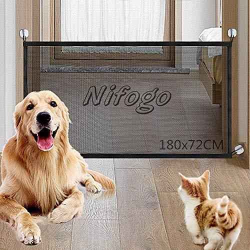 Nifogo Magic Gate Dog - Barrera Seguridad Plegable