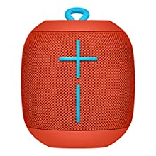 Ultimate Ears Wonderboom Portable Wireless Bluetooth Speaker, 360 ° Surround Sound, Waterproof, 2 Speaker Connection for Powerful Sound, 10h Battery, Red