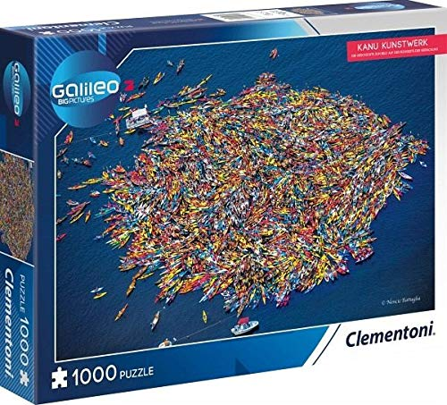 Clementoni 59088 Clementoni-59088-Kanu Kunstwerk-Puzzle 1000 T Galileo