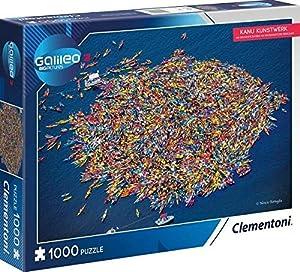 Clementoni 59088Canoa de Arte-Puzzle 1000T Galileo