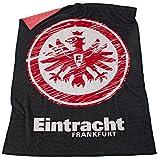 Eintracht Frankfurt Logo Veloursdecke Decke (one size, schwarz)