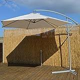 Cantilever 3m Garden Parasol Cream Fabric with Steel Frame Garden Furniture