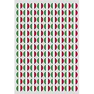 117 Klebepunkte als Länderflagge Italien, 20 mm, aus PVC Folie, wetterfest, Markierungspunkte, Aufkleber, Fahne, Flagge