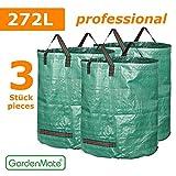 GardenMate® 3x Gartensack 272l PROFESSIONAL aus robustem Polypropylen-Gewebe
