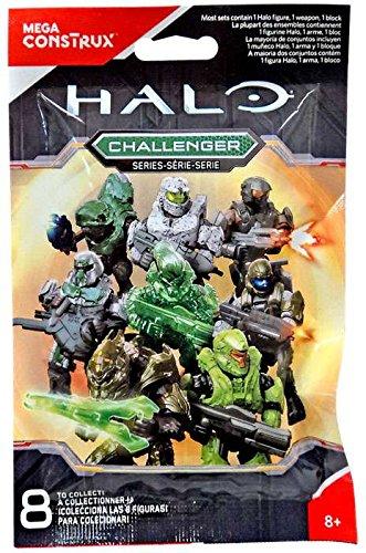Preisvergleich Produktbild Mattel Mega Construx Bloks - Halo Challenger Serie Figur Blind Pack Micro Action Minifigur 1 Figur ohne Vorauswahl