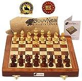 SouvNear Reiseschach - Ultimatives 25 x 25 Cm Klassisches Schach