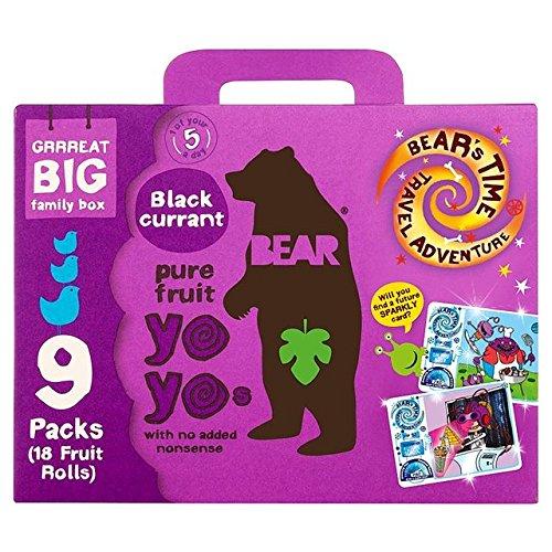 Preisvergleich Produktbild Bear Fruit Yoyos Blackcurrant Family Pack 9 x 20g