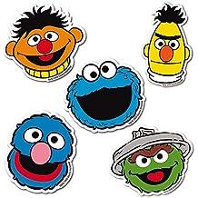 Juego de imanes de nevera Barrio Sésamo - Juego de 5 imanes de refrigerador Sesame Street - Epi, Blas, Óscar el Gruñón, Monstruo de las Galletas y Coco - Diseño original con licencia - LOGOSHIRT