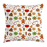 Best Chaises Office Star Patio - WIOPZ Gingerbread Man Throw Pillow Cushion Cover, Festive Review