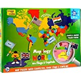 [Sponsored]Imagimake Mapology World With Flags And Capitals - Educational Toy For Boys And Girls - World Map Puzzle For Kids - Excellent Birthday Gift