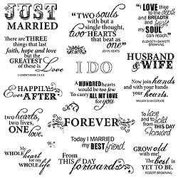 Fiskars Make A Wish Stempel, 20,3 x 20,3 cm, transparent (01-005541) Just Married Sayings