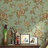 LianLe Papier Peint Murale Rétro Fleurs Papier pour Décoration de Maison Salon Chambre ,B