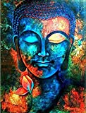 #3: Paper Plane Design Lord Buddha Paintings - Unframed Canvas (18 inch x 23 inch)