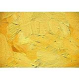 Vlies Fototapete PREMIUM PLUS Wand Foto Tapete Wand Bild Vliestapete - WALL OF YELLOW SHADES - Abstrakt Hintergrund Dekoration Wand Spachtel farbige Wand gelb - no. 107, Größe:400x280cm Vlies