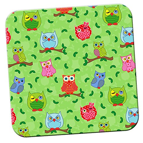 winking-dotty-owls-with-leaves-coaster-pack-of-coasters